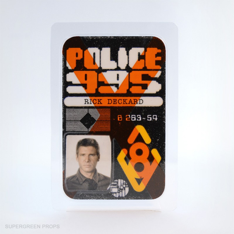 Deckard police badge, supergreen props, handcrafted collectibles