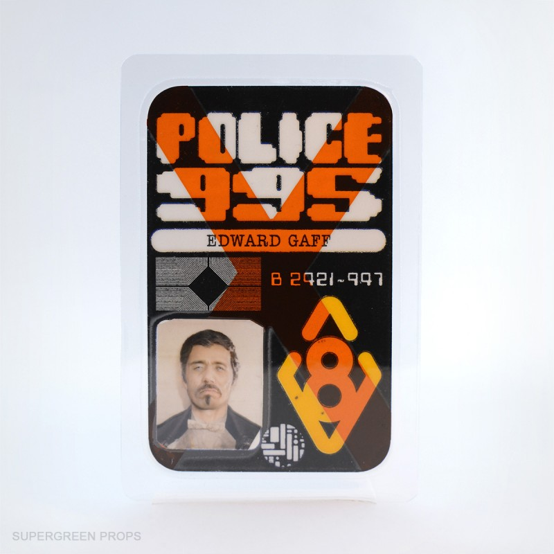 Gaff police badge, supergreen props, handcrafted collectibles